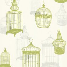 Avian Bird Cages 10m x 52cm Wallpaper Roll Lily