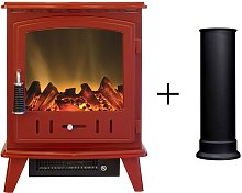 Aviemore Electric Stove in Red Enamel with