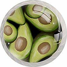 AvocadosRound Glass knob White Drawer Handle, with