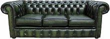 Avon Genuine Leather 3 Seater Chesterfield Sofa