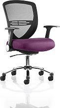 Avram Home Office Chair In Purple With Castors