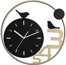 AWAING Bird Wall Clock Living Room Home Silent