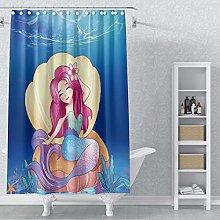 AWERT 105x160cm Mermaid Shower Curtain Sea