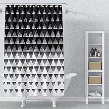 AWERT 183x183cm Abstract Geometric Shower Curtain