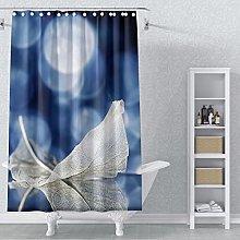 AWERT 90x183cm Feather Shower Curtain Modern