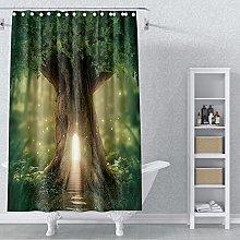 AWERT 90x183cm Tree Shower Curtain Tree of Life