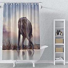 AWERT 90x183cm Westworld Shower Curtain Wild