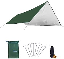 Awning Waterproof Tarp Tent Shade with Pole