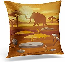 Awowee Cushion Cover 45x45cm/18x18inches Stone Age
