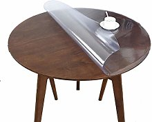 AWSAD 1.5/2.0/3mm Thick Clear Round Table Cover,