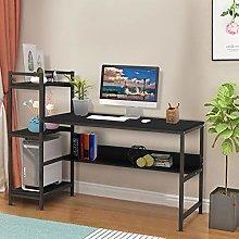 Awssya Computer Desk with 4 Tier Storage Shelves,