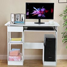 Awssya Computer Desk with Storage Shelf and