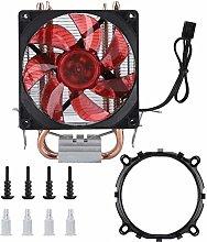 awstroe CPU Cooler, Red Cold Storm CT-2U 3Pin 2100