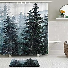 AXEDENRRT Fabric Shower Curtain and Mats