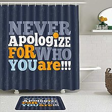 AXEDENRRT Fabric Shower Curtain and Mats Set,Never
