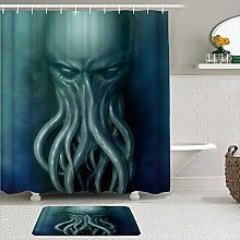 AXEDENRRT Fabric Shower Curtain and Mats Set,Ocean