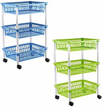 axentia kitchen trolley with 3 baskets, trolley on