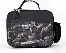 AXGM Cool bag animal group wolves lunch bag picnic