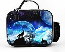 AXGM Cool Bag Beautiful Moon Wolf Howling Lunch