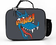 AXGM Cool Bag Cartoon Wolf Lunch Box Bag Picnic