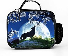 AXGM Cool Bag Cherry Blossom Landscape Moon Wolf