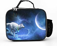 AXGM Cool Bag Fantasy Art Wolf Moon Lunch Box Bag