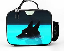 AXGM Cool Bag Floating Wolf Blue Pool Moon Night
