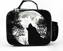 AXGM Cool Bag Forest Howling Wolf Moon Lunch Bag