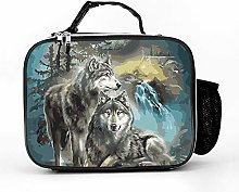 AXGM Cool Bag Forest Moon Wolf Lunch Box Bag Lunch
