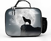 AXGM Cool Bag Full Moon Wolf Lunch Bag Picnic Bag