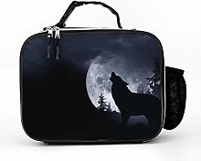 AXGM Cool Bag Howling Wolf and Full Moon Lunch Bag