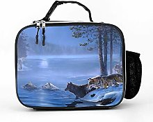 AXGM Cool Bag Landscapes Forest Lake Wolf Lunch