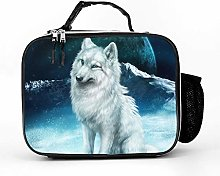 AXGM Cool Bag Moon Wolf Lunch Bag Picnic Bag