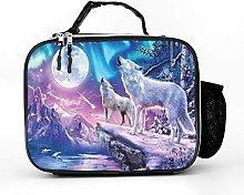 AXGM Cool Bag Moon Wolf Mountain Tree Lunch Bag