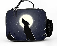 AXGM Cool Bag Moon Wolf Night Stars Lunch Bag