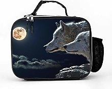 AXGM Cool Bag Moon Wolves Lunch Bag Picnic Bag