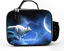 AXGM Cool bag night sky moon wolf lunch bag picnic