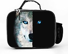 AXGM Cool Bag Night Wolf Lunch Bag Picnic Bag
