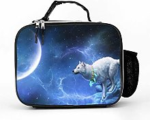 AXGM Cool Bag Sky Moon Wolf Lunch Bag Picnic Bag