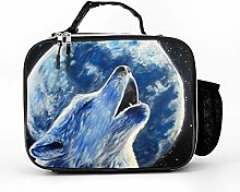 AXGM Cool Bag Wolf and Moon Lunch Box Bag Lunch