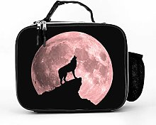 AXGM Cool Bag Wolf Blood Moon Lunch Bag Picnic Bag
