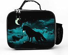 AXGM Cool Bag Wolf Eats Moon Lunch Bag Lunch Bag