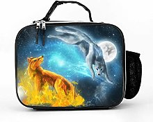AXGM Cool Bag Wolf Moon Lunch Bag Picnic Bag