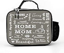 AXGM Cooler Bag Home Is Where Mum Is Letters Words