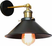 Axhup - Ø26cm Metal Iron Wall Lamp Industrial