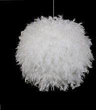 Axhup - Ø30cm Pure White Feather Pendant Light