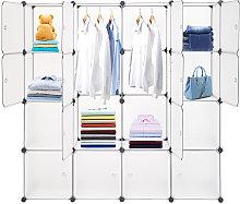 Axhup - 16 Cube Closet Storage Organizer Unit with