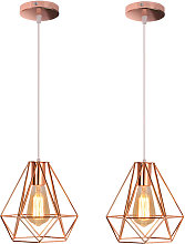 Axhup - 2 Pack 20cm Modern Ceiling Lamp