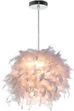 Axhup - 2 Pack Pure White Feather Pendant Light