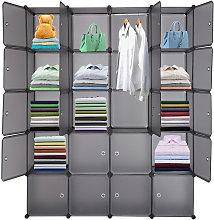 Axhup - 20 Cube Closet Storage Organizer Unit with